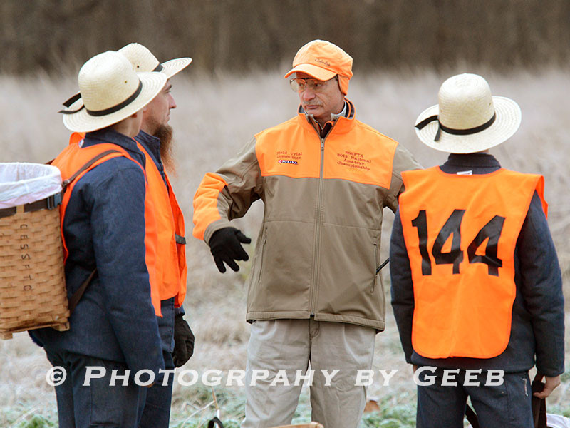 David Granatir giving the Amish shaggers some instructions