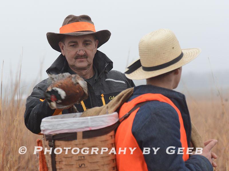 Judge Iversen putting a bird in the shag basket.