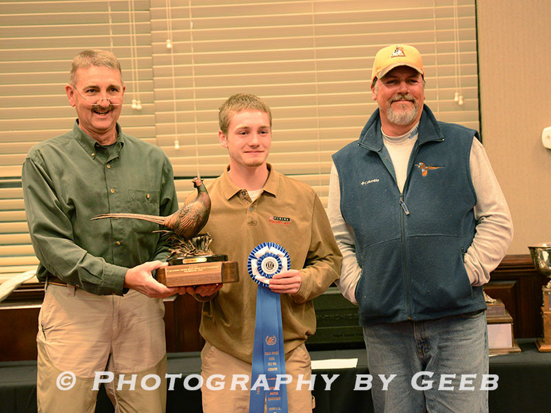 1st Place handler Conner Wharton (#42 Marshal). Conner in the youngest National Am winner.